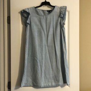 As U Wish chambray sleeveless dress, size L